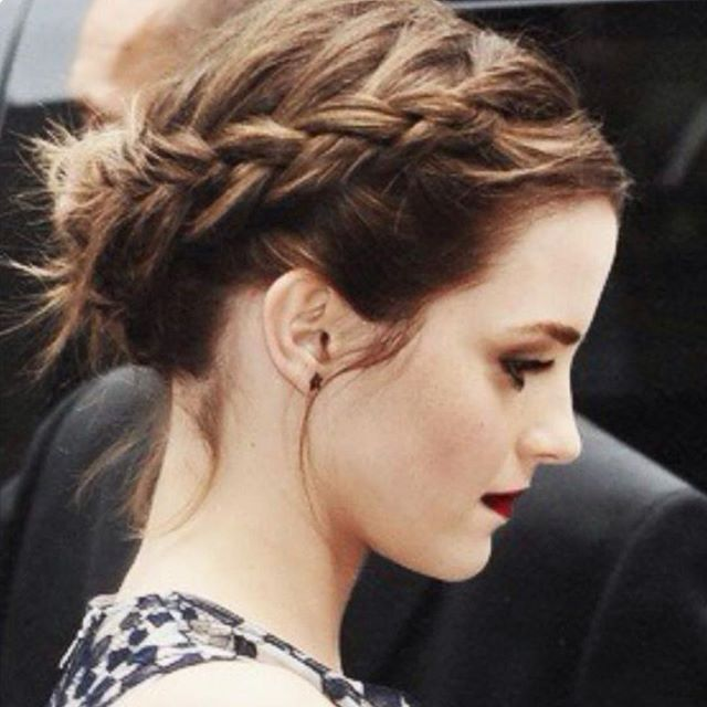 Updo with a side braid