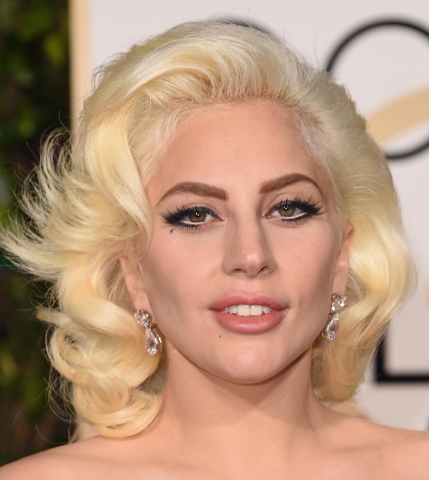Lady Gaga voluminous hair Golden Globes