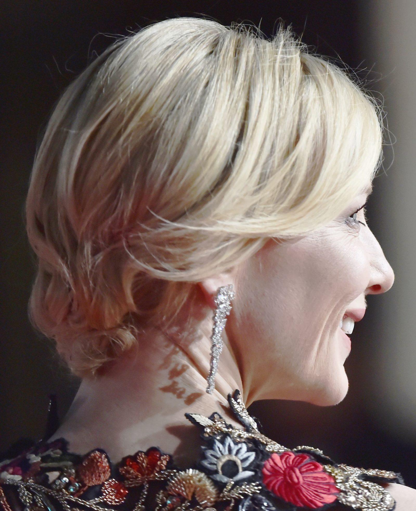 Cabelo preso Cate Blanchett Bafta 2016