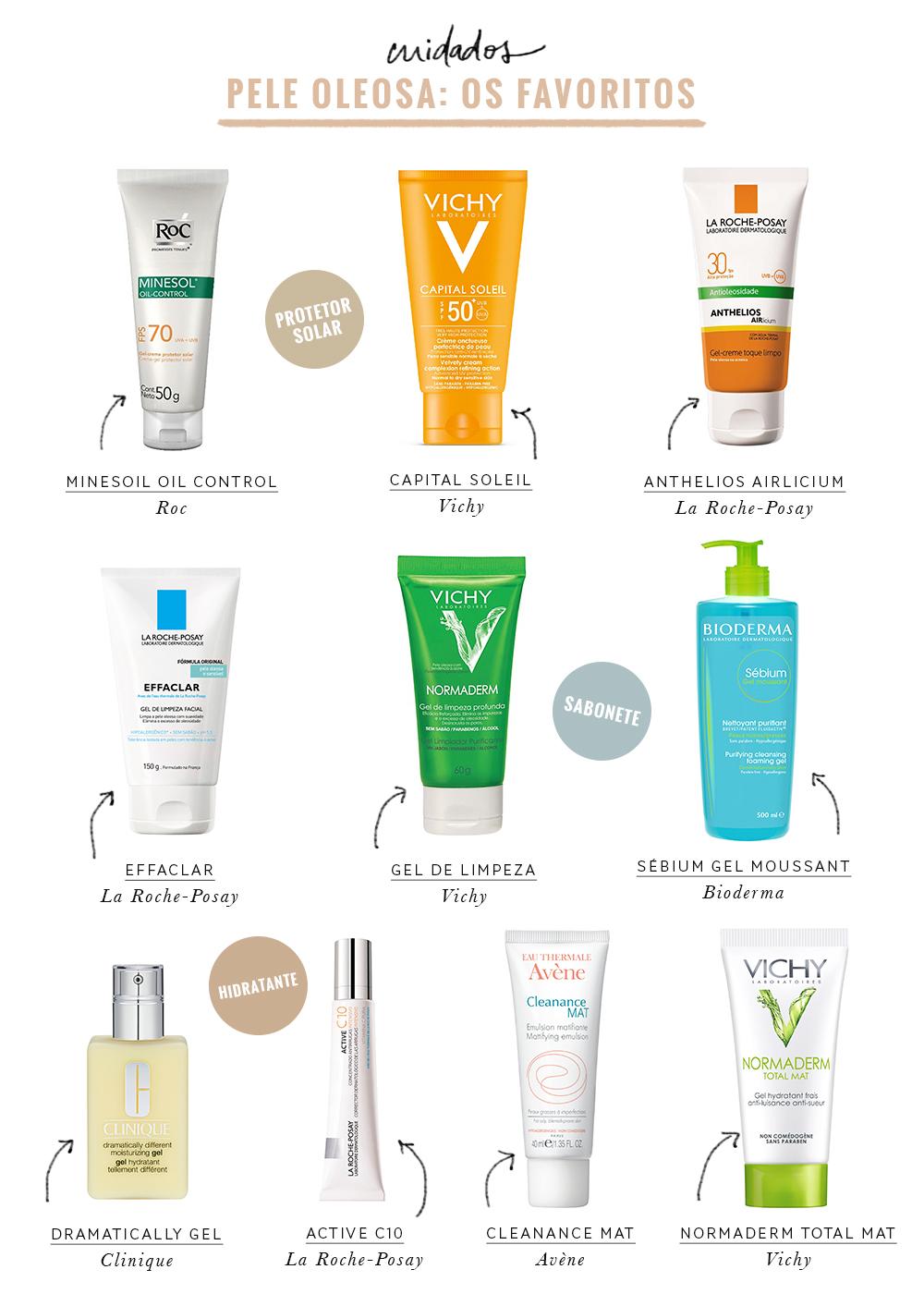 produtos para pele oleosa