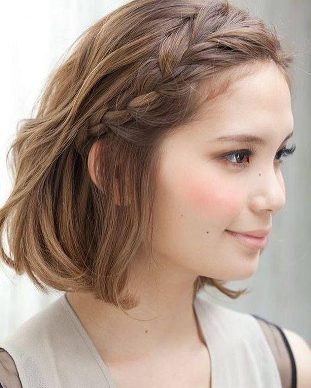 E uma versão fofa de trança lateral para quem tem cabelo mais curto!