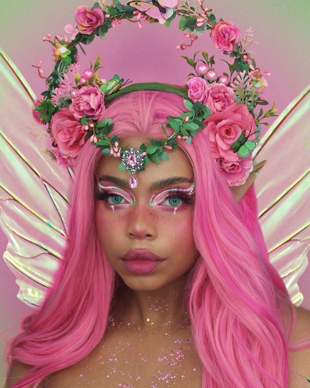 tendencia fairycore aesthetic tiara de flores