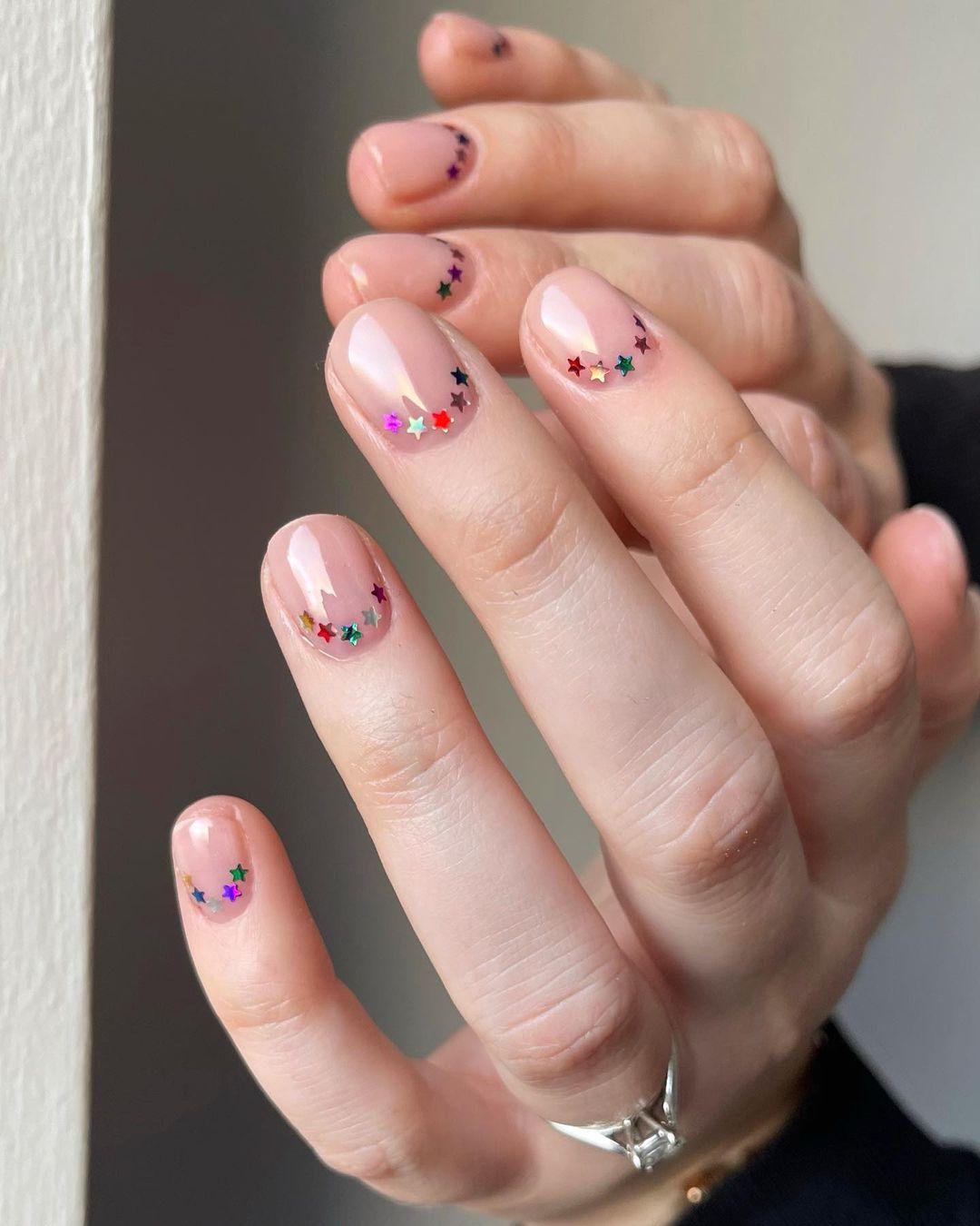 nail art com estrelas