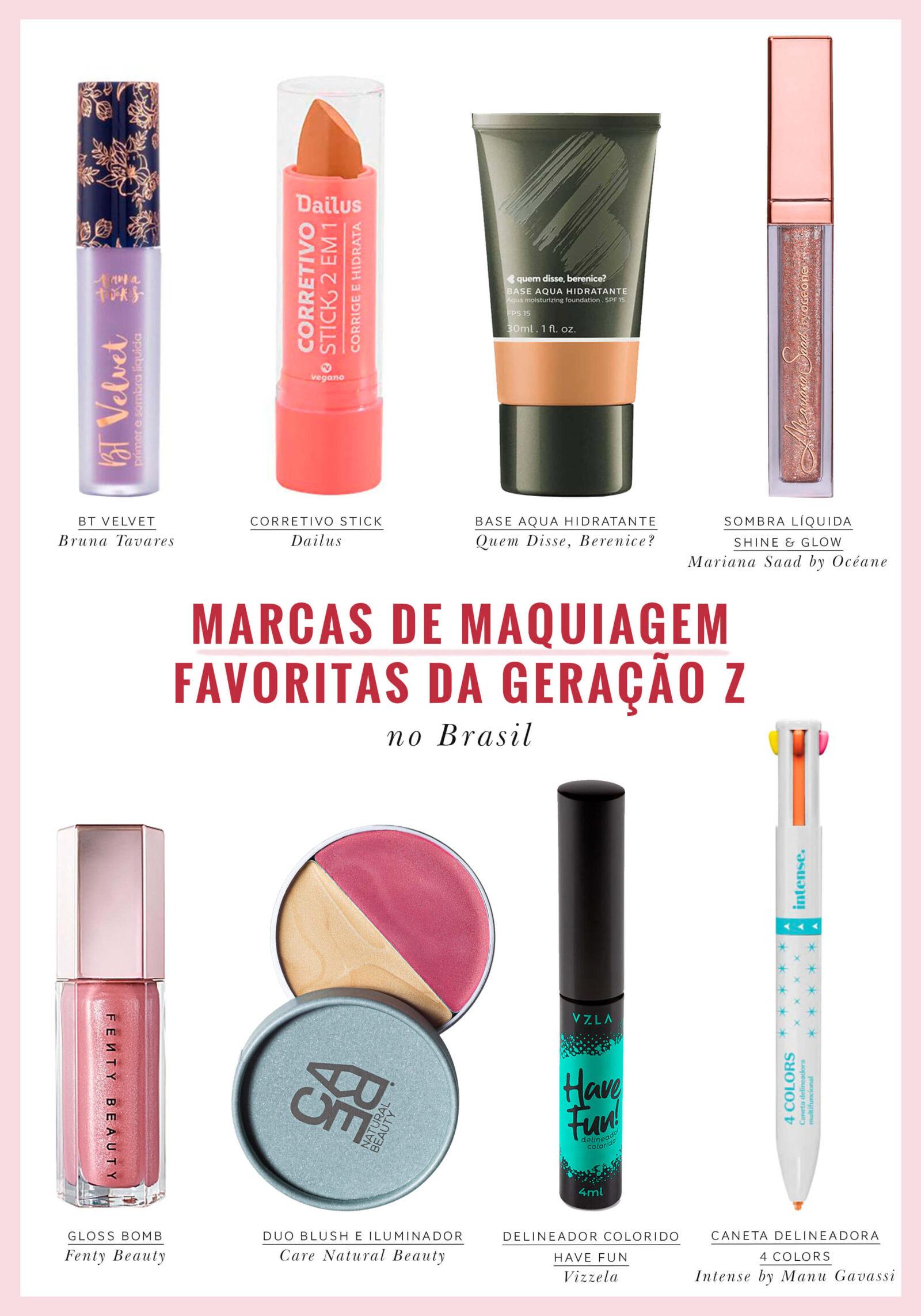 marcas de maquiagem favoritas da geração z no Brasil