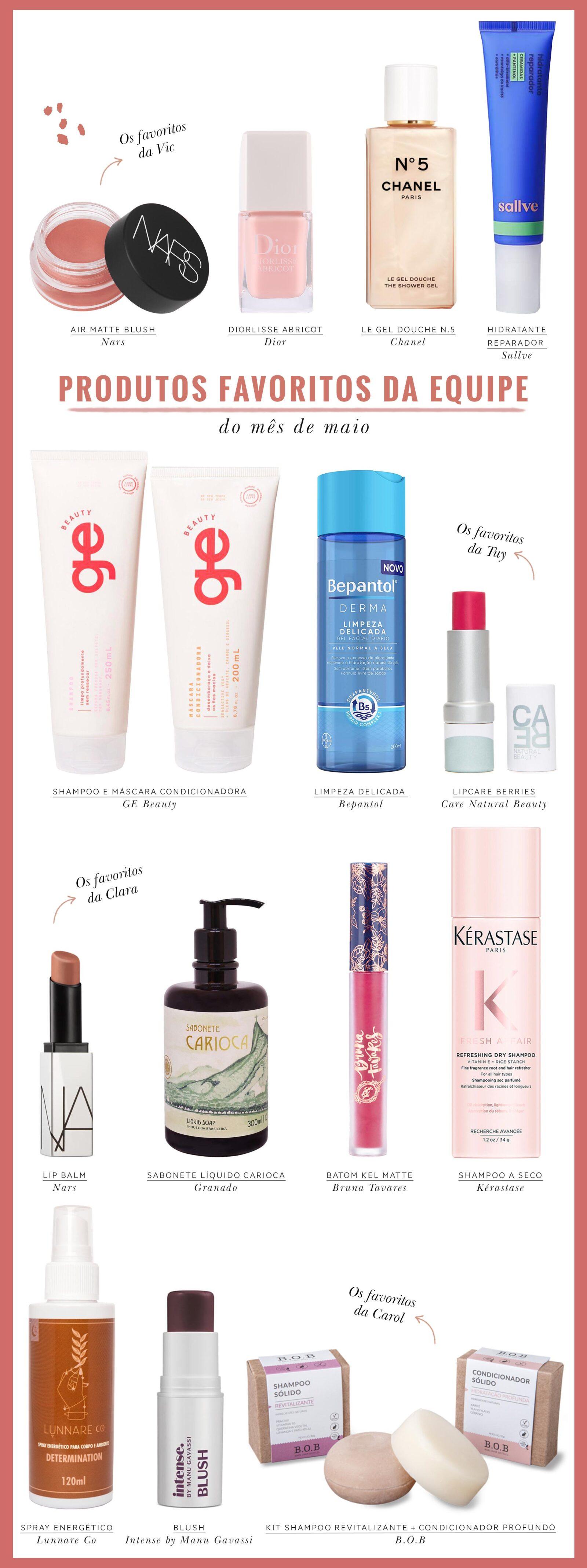 produtos de beleza testados e aprovados pela equipe Dia de Beauté