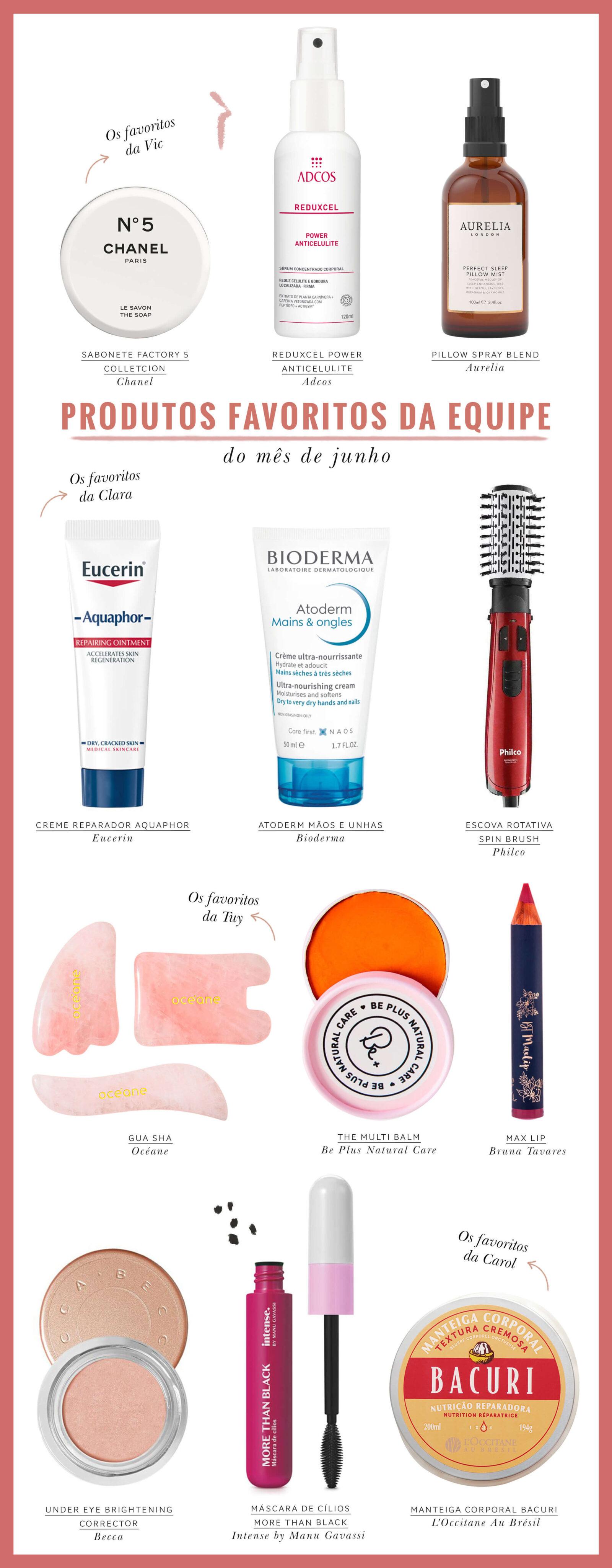 produtos favoritos da equipe ddb em junho